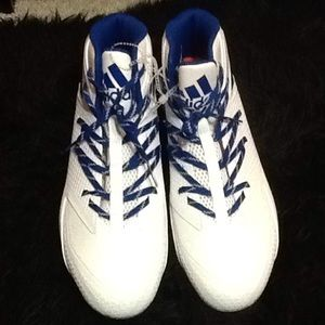 Men's blue white Nike football cleats